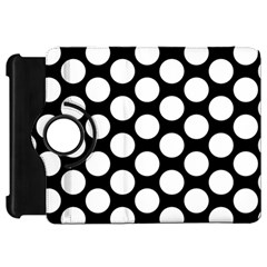 Black And White Polkadot Kindle Fire HD 7  (1st Gen) Flip 360 Case