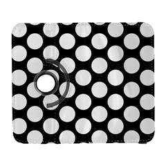 Black And White Polkadot Samsung Galaxy S  III Flip 360 Case