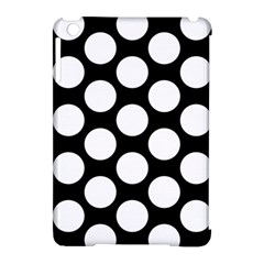 Black And White Polkadot Apple Ipad Mini Hardshell Case (compatible With Smart Cover)