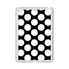 Black And White Polkadot Apple iPad Mini 2 Case (White)