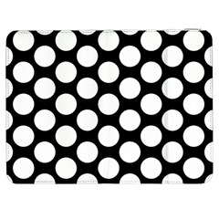 Black And White Polkadot Samsung Galaxy Tab 7  P1000 Flip Case