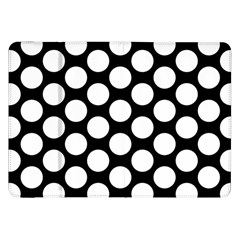 Black And White Polkadot Samsung Galaxy Tab 8 9  P7300 Flip Case
