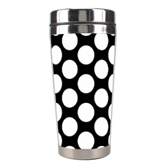Black And White Polkadot Stainless Steel Travel Tumbler