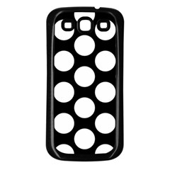 Black And White Polkadot Samsung Galaxy S3 Back Case (Black)