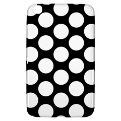 Black And White Polkadot Samsung Galaxy Tab 3 (8 ) T3100 Hardshell Case