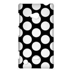 Black And White Polkadot Nokia Lumia 720 Hardshell Case