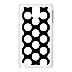 Black And White Polkadot Samsung Galaxy Note 3 N9005 Case (white)