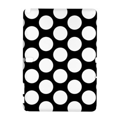 Black And White Polkadot Samsung Galaxy Note 10.1 (P600) Hardshell Case