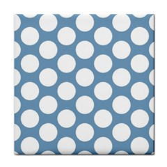 Blue Polkadot Ceramic Tile