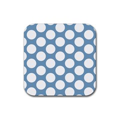 Blue Polkadot Drink Coasters 4 Pack (Square)