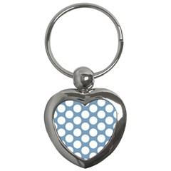 Blue Polkadot Key Chain (Heart)