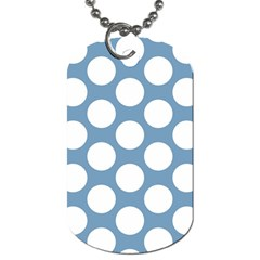 Blue Polkadot Dog Tag (One Sided)