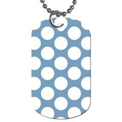 Blue Polkadot Dog Tag (two Sided)