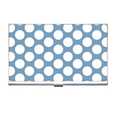 Blue Polkadot Business Card Holder