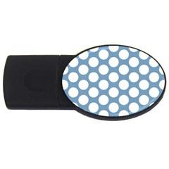 Blue Polkadot 1GB USB Flash Drive (Oval)