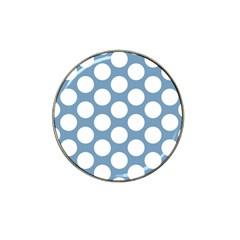 Blue Polkadot Golf Ball Marker 10 Pack (for Hat Clip)