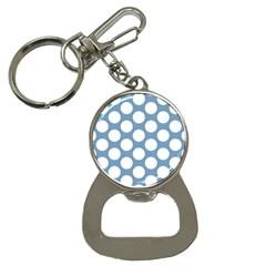 Blue Polkadot Bottle Opener Key Chain