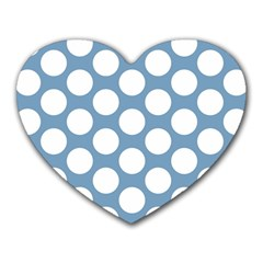 Blue Polkadot Mouse Pad (Heart)