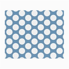 Blue Polkadot Glasses Cloth (Small, Two Sided)