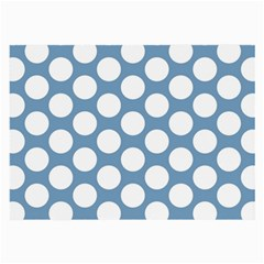 Blue Polkadot Glasses Cloth (large, Two Sided)