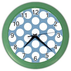 Blue Polkadot Wall Clock (Color)