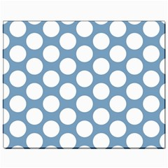 Blue Polkadot Canvas 11  x 14  (Unframed)