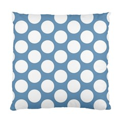 Blue Polkadot Cushion Case (Single Sided)