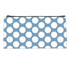 Blue Polkadot Pencil Case