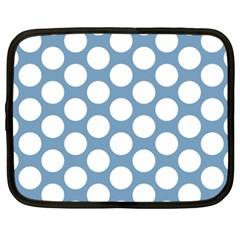 Blue Polkadot Netbook Sleeve (xxl)