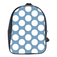 Blue Polkadot School Bag (Large)