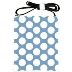 Blue Polkadot Shoulder Sling Bag