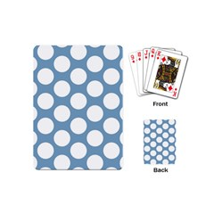 Blue Polkadot Playing Cards (mini)