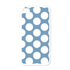 Blue Polkadot Apple Iphone 4 Case (white)