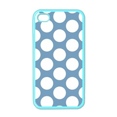 Blue Polkadot Apple Iphone 4 Case (color)