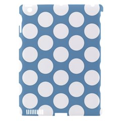 Blue Polkadot Apple iPad 3/4 Hardshell Case (Compatible with Smart Cover)