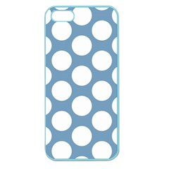 Blue Polkadot Apple Seamless iPhone 5 Case (Color)