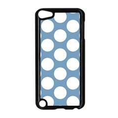 Blue Polkadot Apple iPod Touch 5 Case (Black)