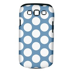 Blue Polkadot Samsung Galaxy S III Classic Hardshell Case (PC+Silicone)