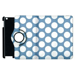 Blue Polkadot Apple iPad 2 Flip 360 Case