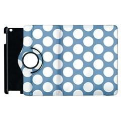 Blue Polkadot Apple Ipad 3/4 Flip 360 Case