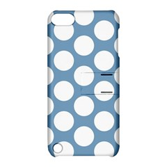 Blue Polkadot Apple iPod Touch 5 Hardshell Case with Stand