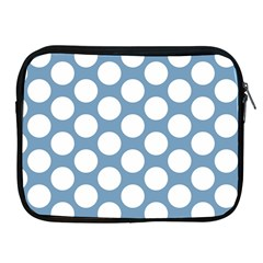 Blue Polkadot Apple iPad Zippered Sleeve