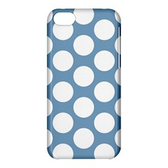 Blue Polkadot Apple Iphone 5c Hardshell Case