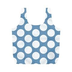 Blue Polkadot Reusable Bag (m)