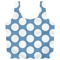 Blue Polkadot Reusable Bag (XL)