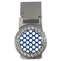 Dark Blue Polkadot Money Clip (CZ)