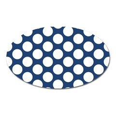 Dark Blue Polkadot Magnet (oval)