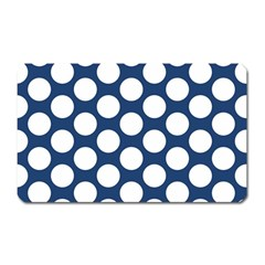 Dark Blue Polkadot Magnet (Rectangular)