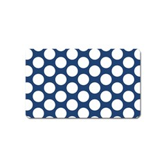 Dark Blue Polkadot Magnet (name Card)