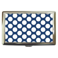 Dark Blue Polkadot Cigarette Money Case